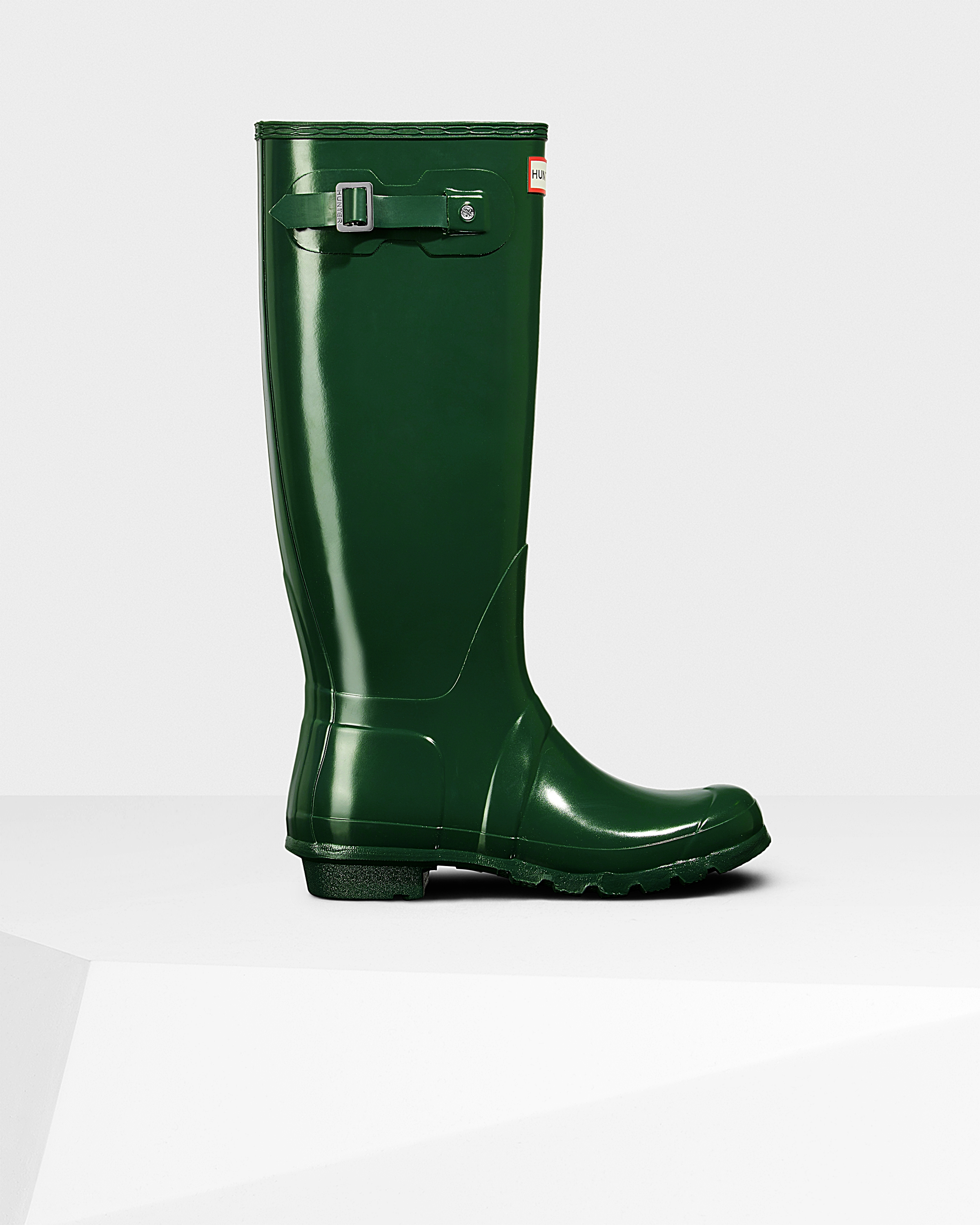 98eb184e8f265d Womens Green Tall Gloss Rain Boots