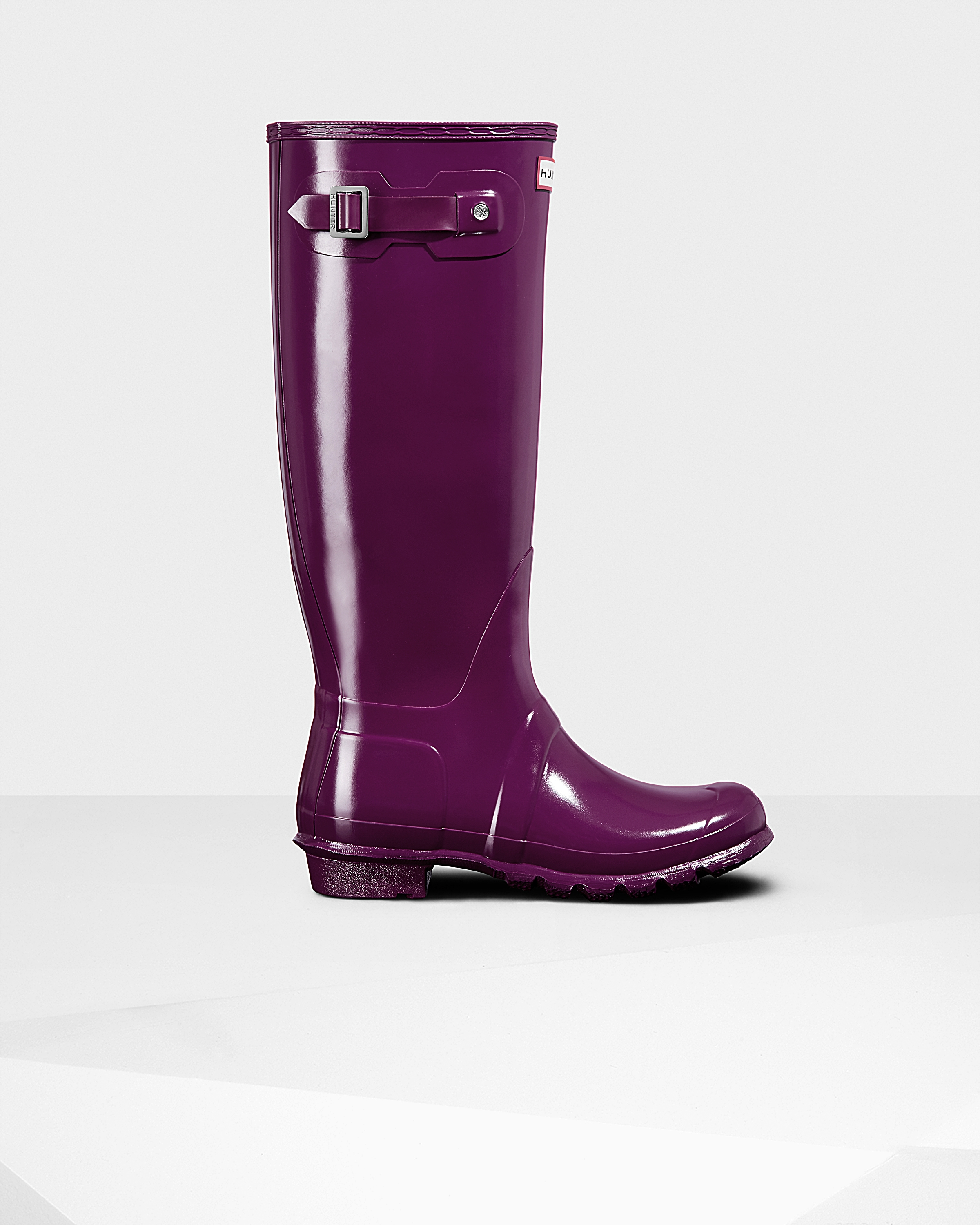 a78e6662607 Womens Purple Tall Gloss Rain Boots