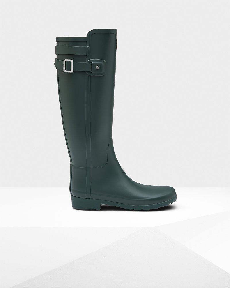 Women's Refined Slim Fit Back Strap Wellington Boots