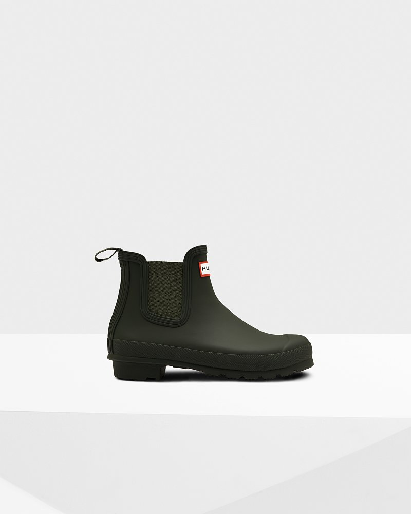 "<Span Itemprop=""Name"">Women's Original Chelsea Boots</Span>:                     <Span>Dark Olive</Span> by Hunter"