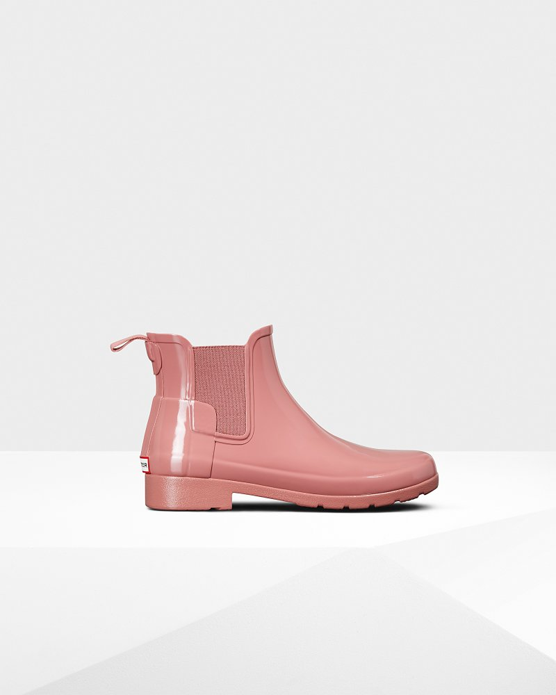 Women's Refined Slim Fit Gloss Chelsea Boots