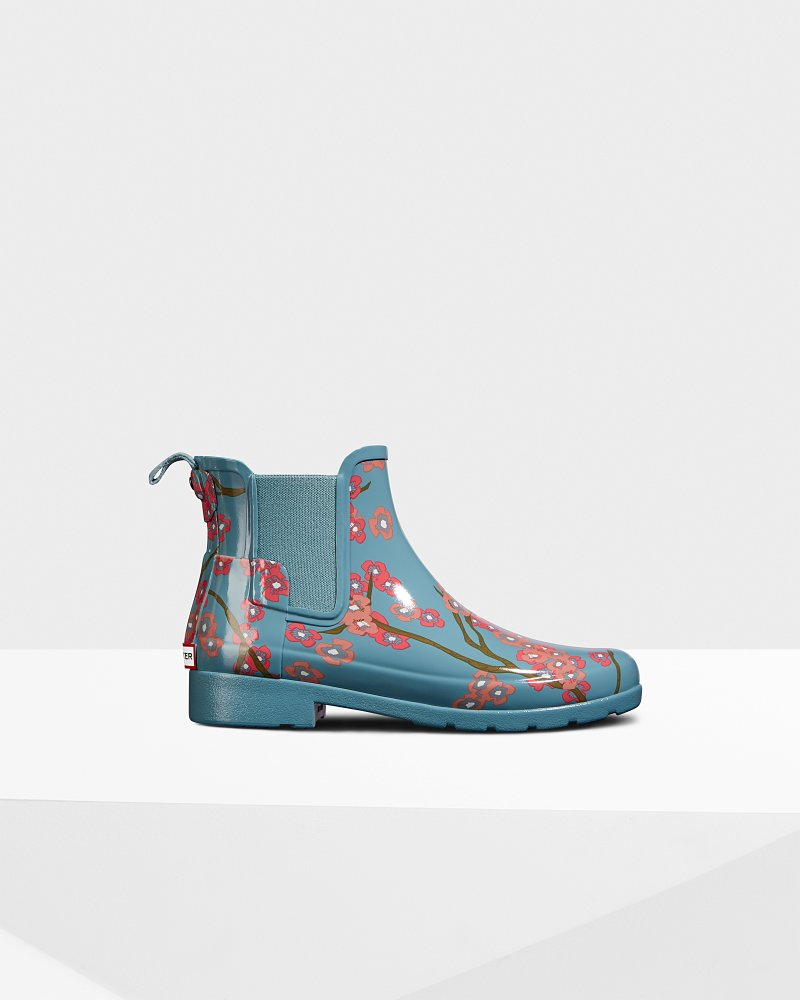 Women's Refined Blossom Print Chelsea Boots