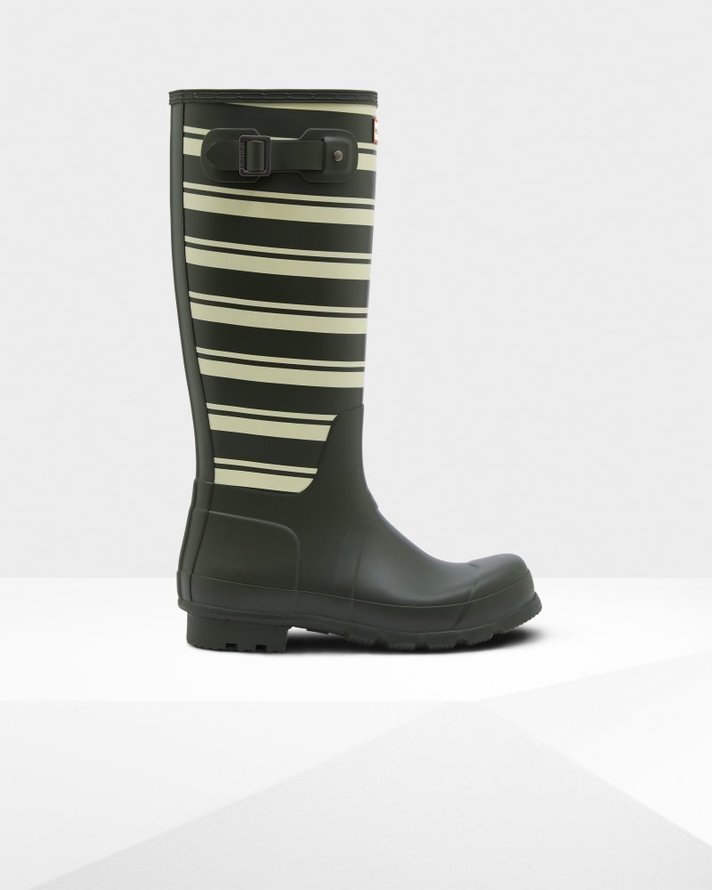 Men's Original Garden Stripe Tall Wellington Boots