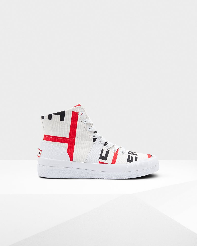 Men's Original Exploded Logo Hi Top Trainers