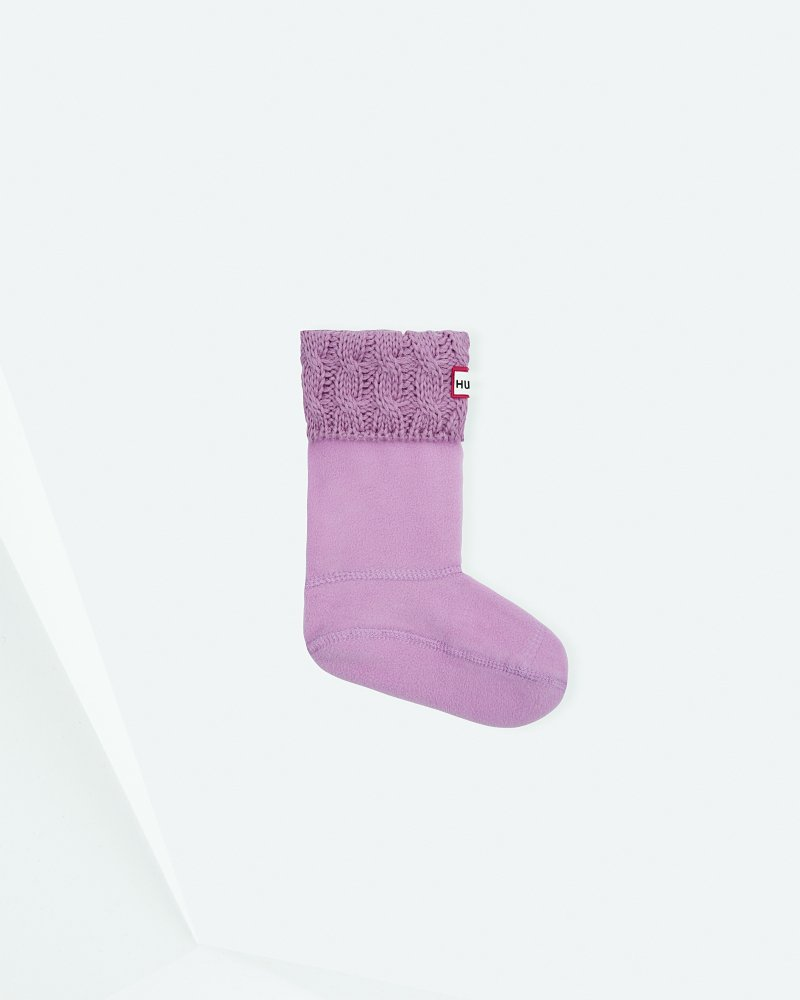 Kids' Six-Stitch Cable Boot Socks