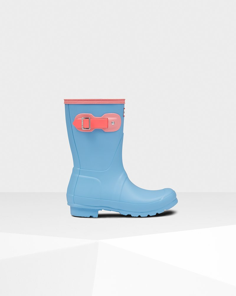 Original kurze Gummistiefel Color-Block für Damen
