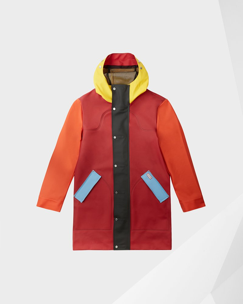 Original gummierter Hunting Coat Color-Block für Herren