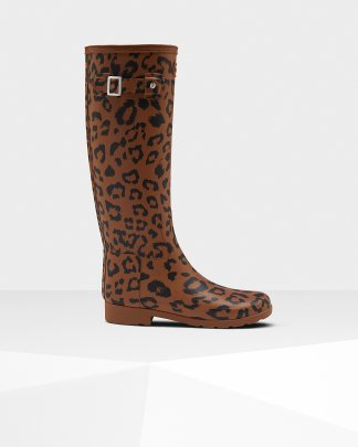 61802cad052aa Womens Brown Refined Leather Ankle Boots | Official Hunter Boots Site