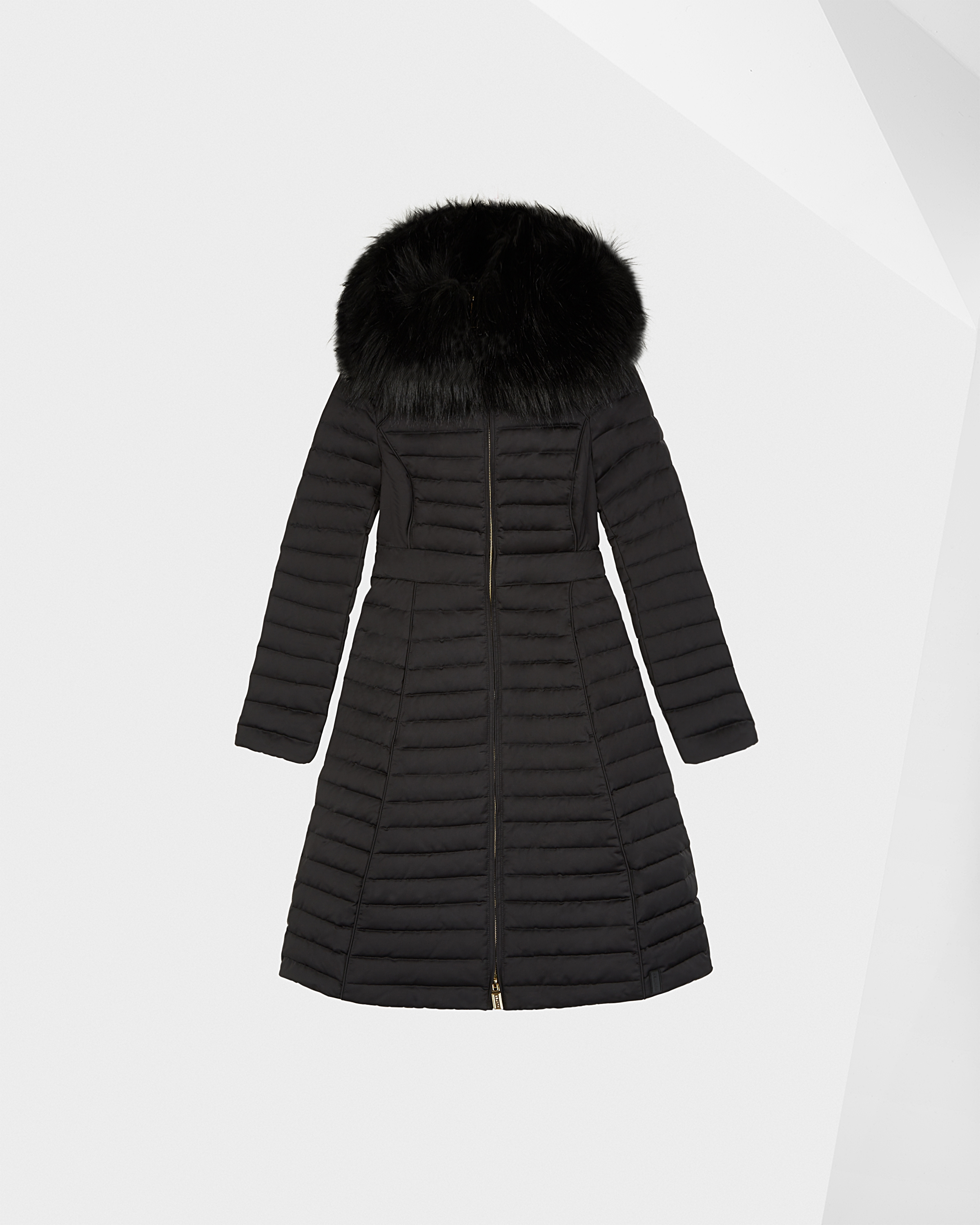 876a46bc83d13 Womens Black Women's Refined Down Coat with Faux Fur Hood | Official Hunter  Boots Store