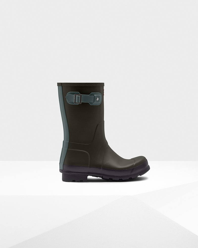 Men's Original Colour Block Short Wellington Boots