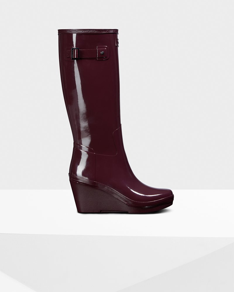 Women's Original Wedge Refined Gloss Tall Wellington Boots