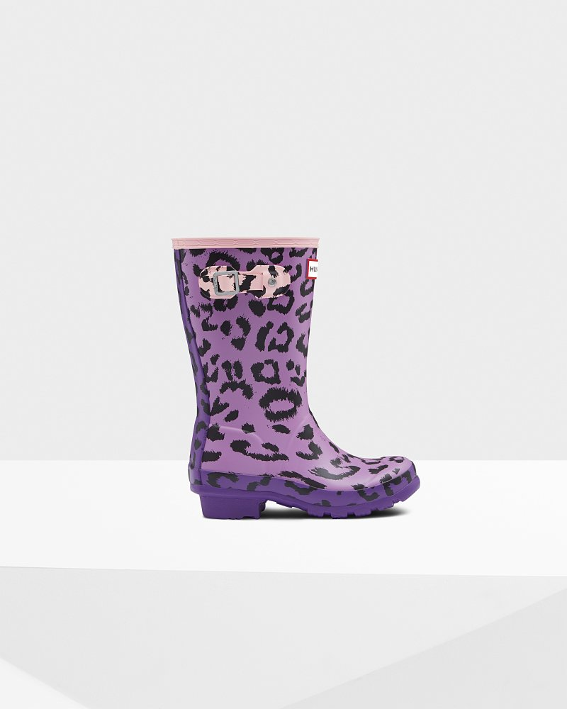 Original Kids Leopard Print Wellington Boots