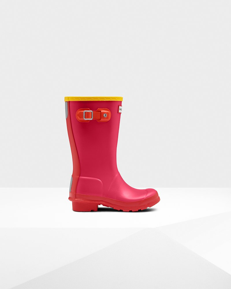 Original Kids Colour Block Wellington Boots