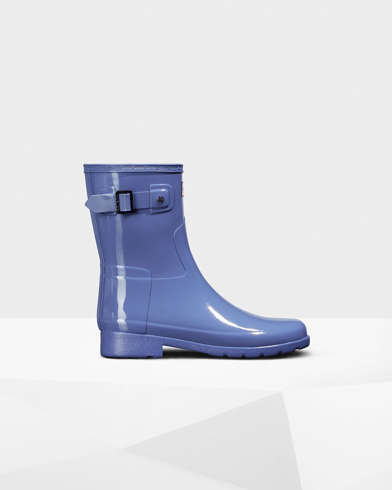 Women's Refined Slim Fit Short Gloss Rain Boot