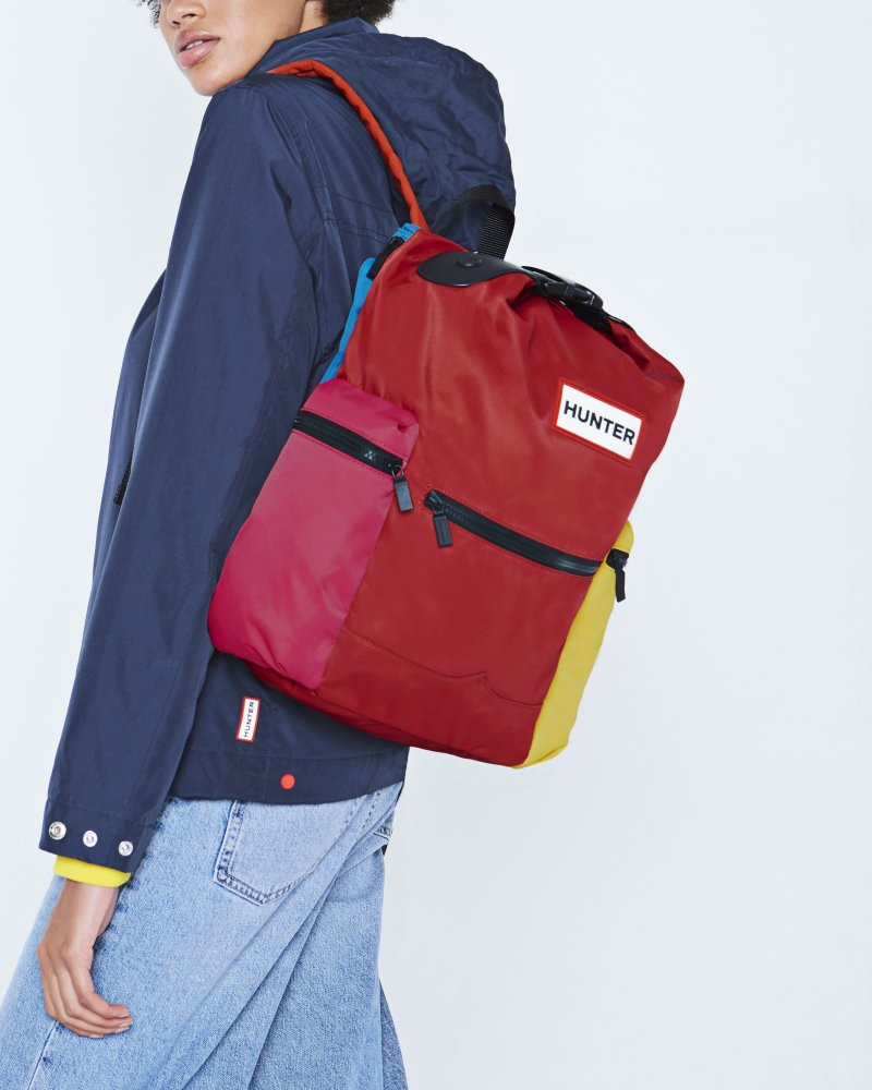 Original Color Block Top Clip Backpack
