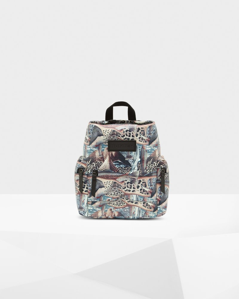 Original Hypernormal Print Mini Backpack - Rubberized Leather
