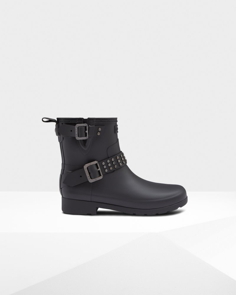 Women's Refined Studded Biker Boots