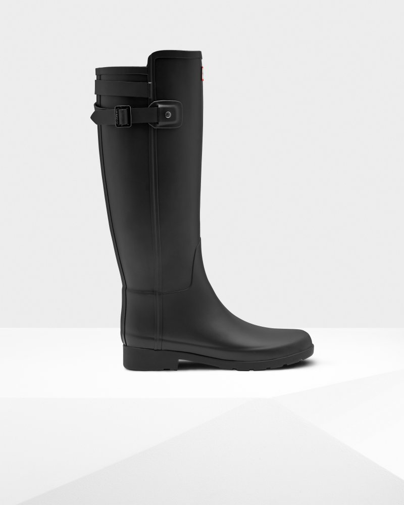 Women's Refined Slim Fit Back Strap Rain Boots