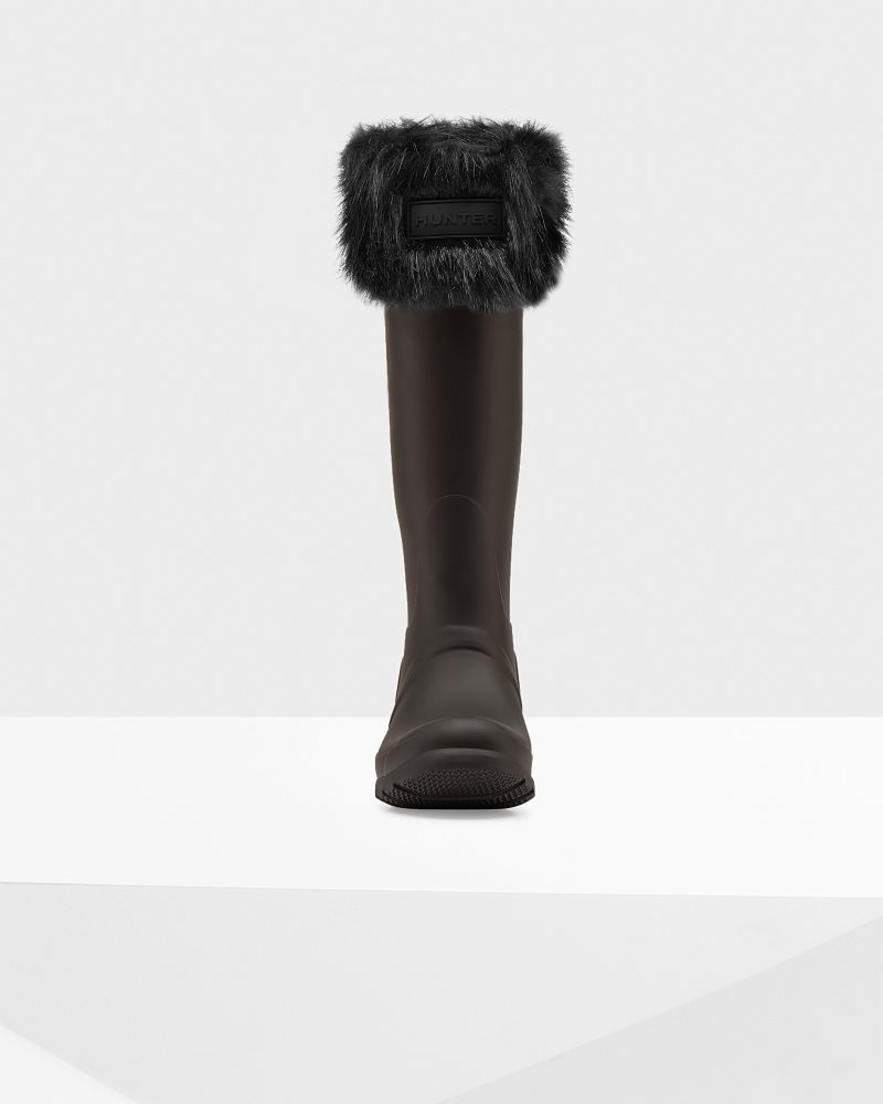 Women's Original Faux Fur Cuff Boot Socks
