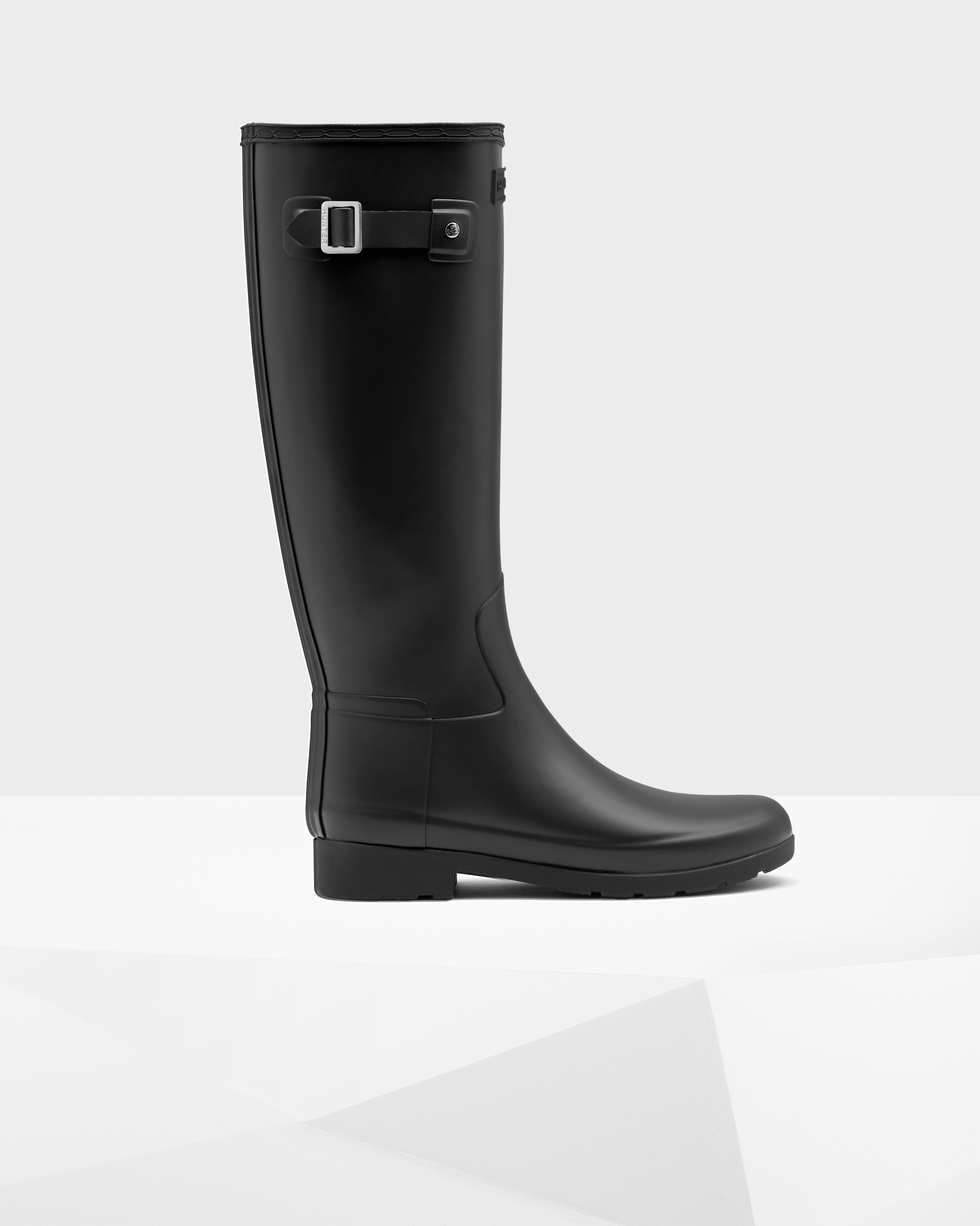 dd9e864f22 Womens Black Women's Refined Slim Fit Rain Boots | Official Hunter ...