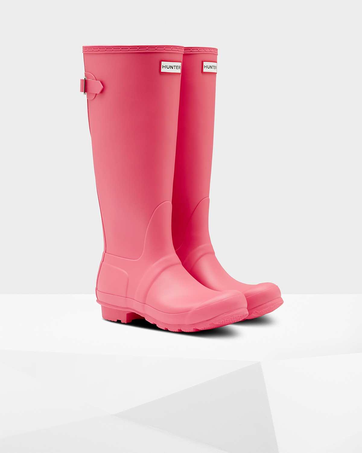 6649eed9 Womens Pink Adjustable Rain Boots | Official Hunter Boots Store
