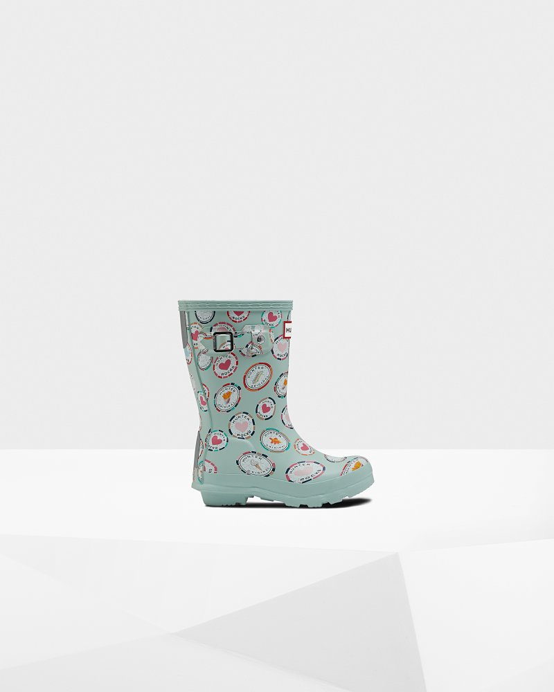 Original Little Kids Rock Print Wellington Boots
