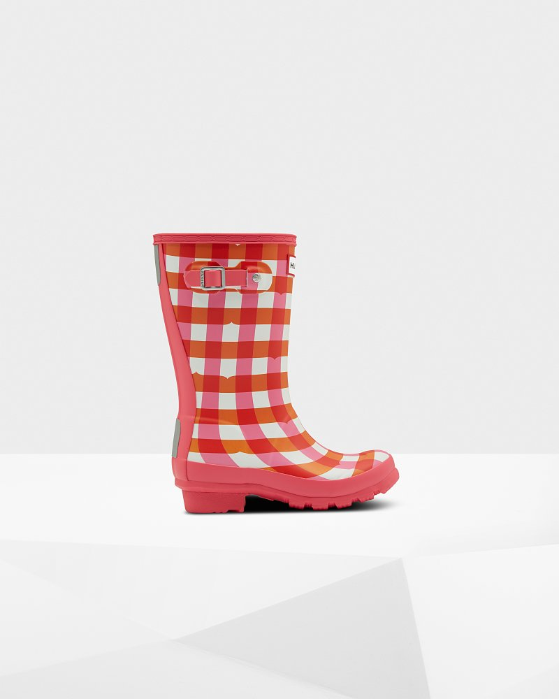 Original Kids Gingham Wellington Boots