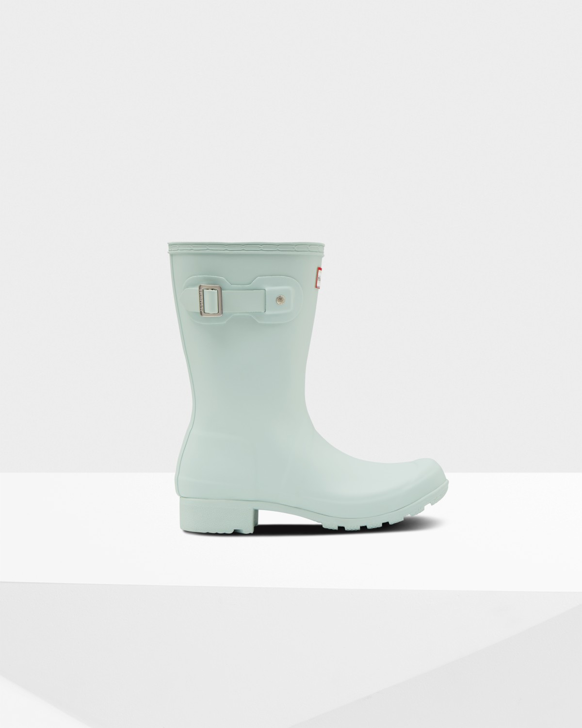 6fe190e0b200 Womens Green Short Packable Rain Boots | Official Hunter Boots Store