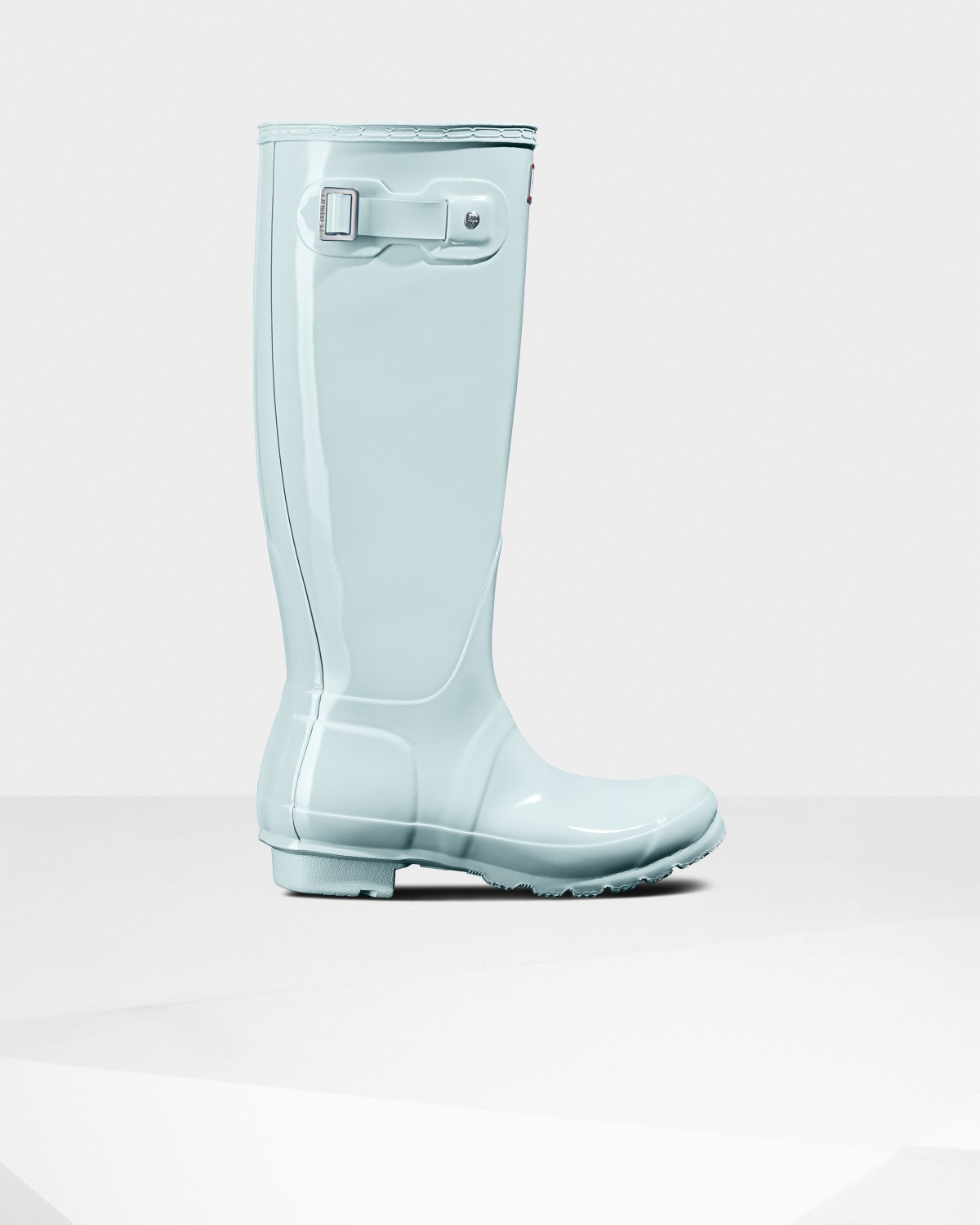 8168cd6f00 Womens Blue Tall Gloss Rain Boots | Official Hunter Boots Store