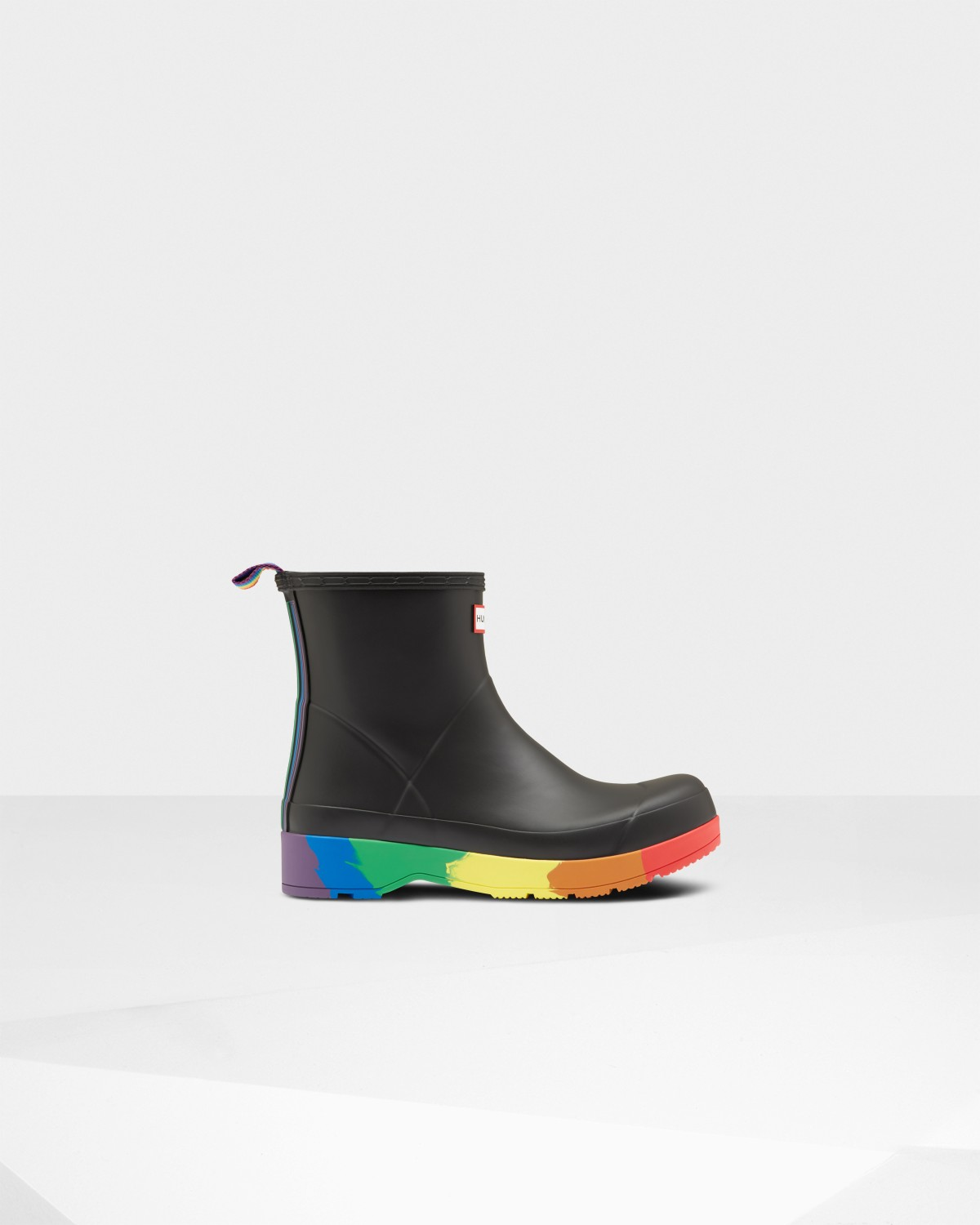 Original Pride Play Heeled Wellington Boots: Black