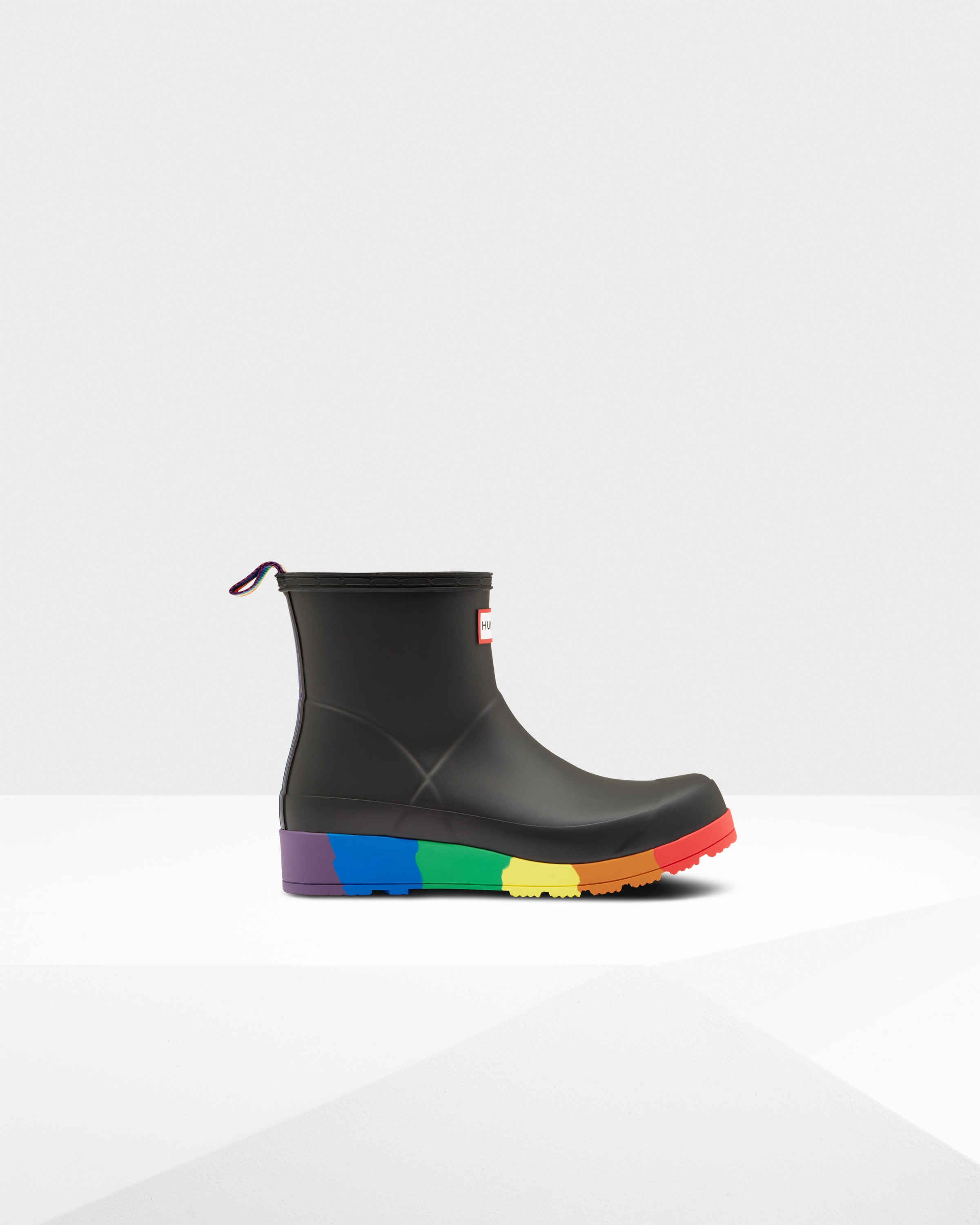 Womens Black Original Pride Play Flatform Wellington Boots | Official Hunter Boots Site