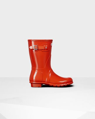 6e2aeed4fda Womens Red Women's Original Tall Gloss Rain Boots | Official Hunter ...
