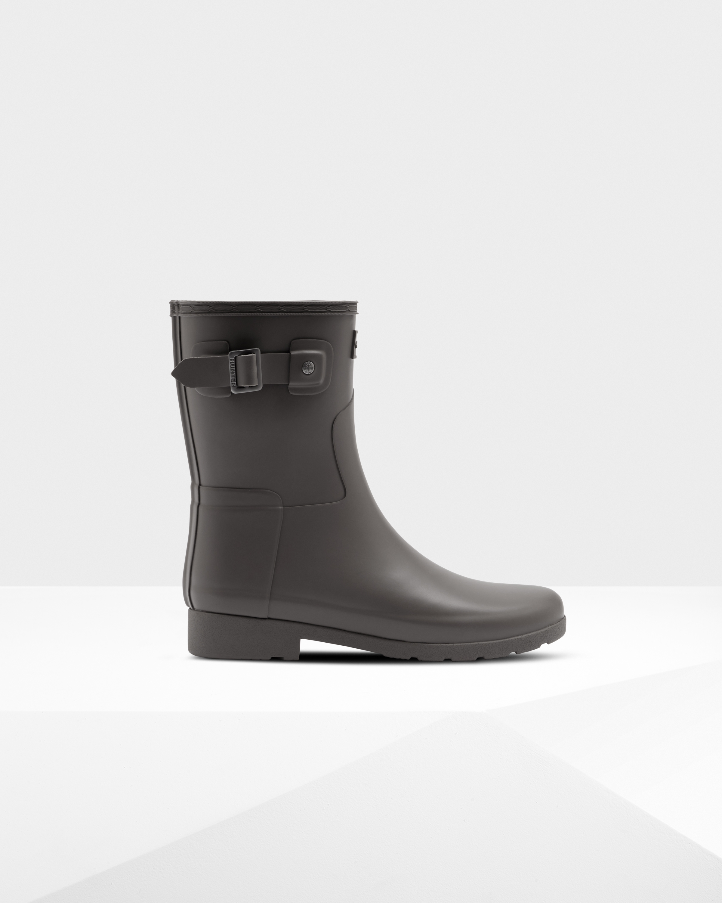 Women's Refined Slim Fit Short Rain Boots: Seep Grey   Official Hunter Boots Store