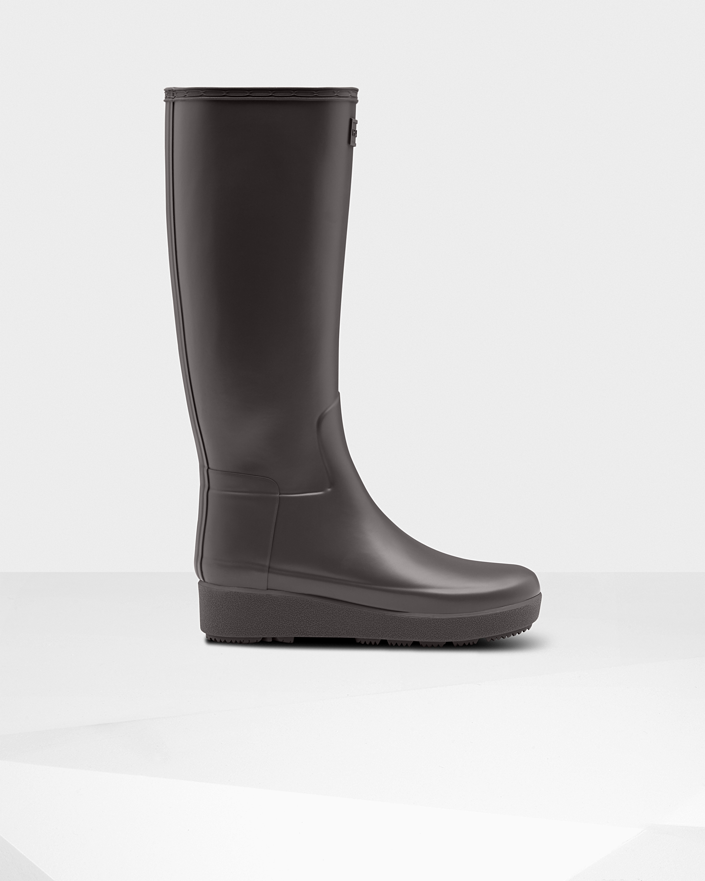 Women's Refined Slim Fit Creeper Tall Boots: Seep Grey | Official Hunter Boots Store