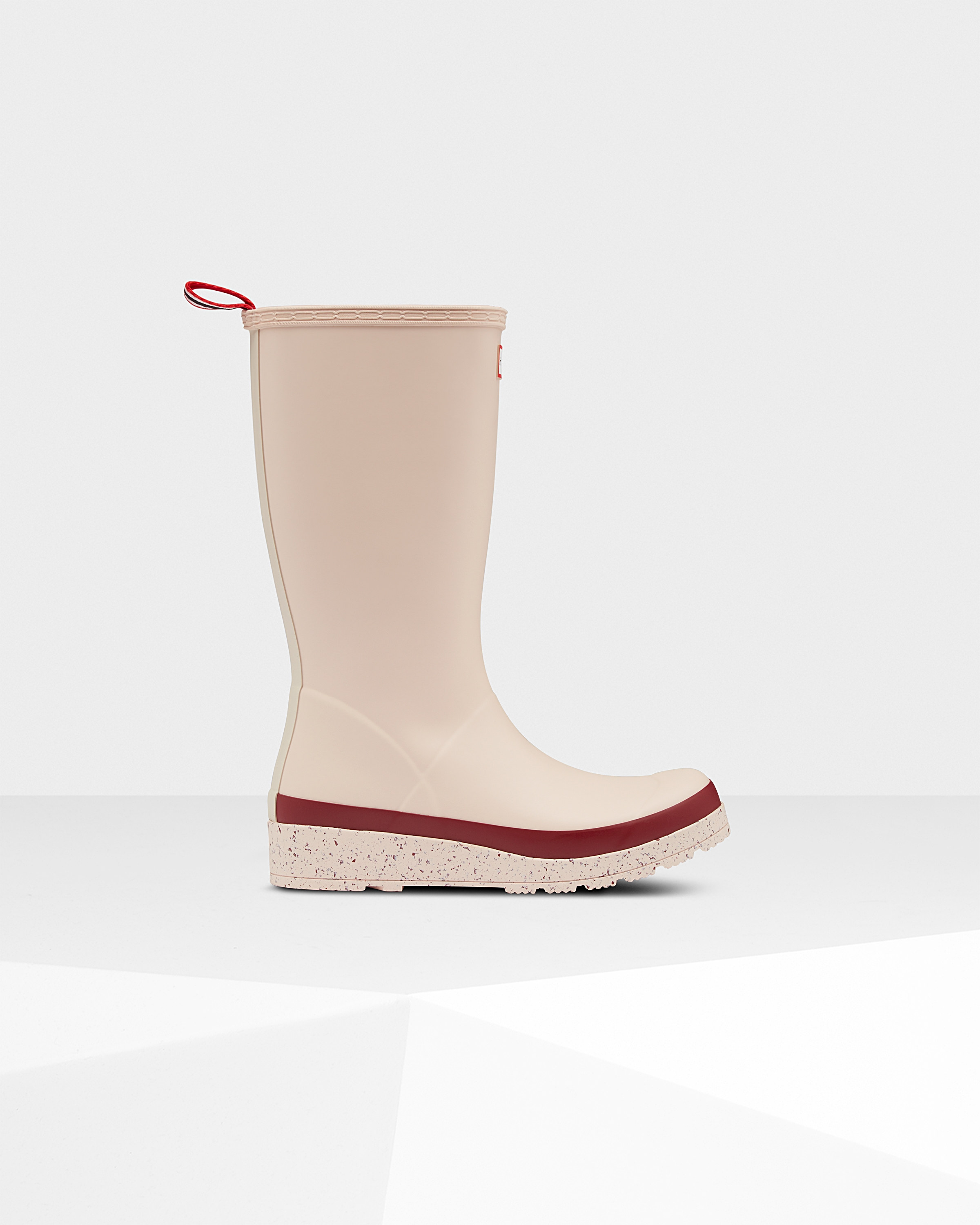 Women's Original Play Tall Speckle Rain Boots: Moonstone Pink/autumn Stone Red   Official Hunter Boots Store