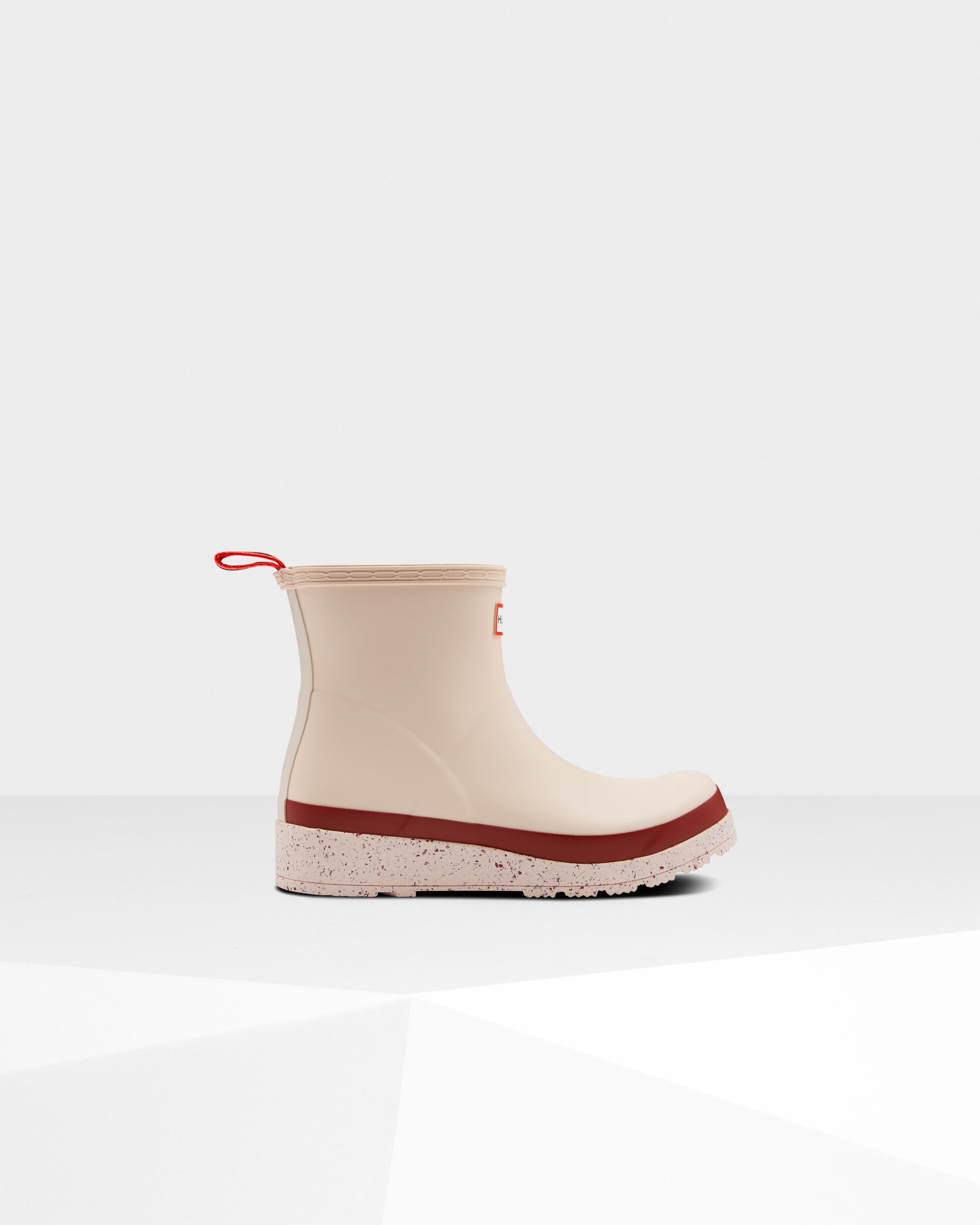 Women's Original Play Short Speckle Rain Boots: Moonstone Pink/autumn Stone Red | Official Hunter Boots Store