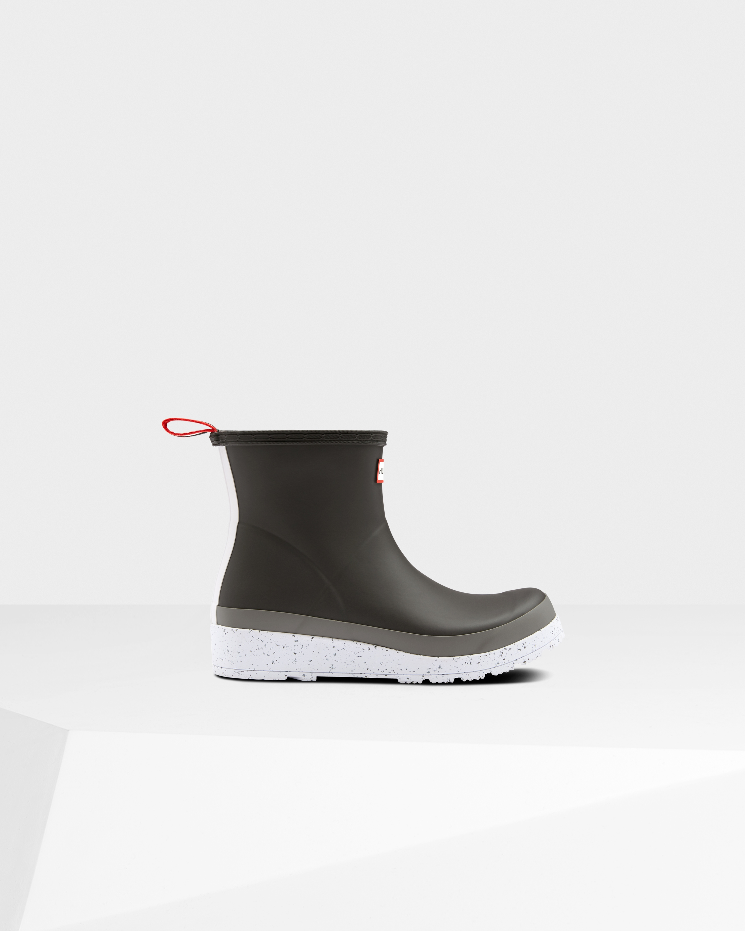 Women's Original Play Short Speckle Rain Boots: Onyx/mere Grey | Official Hunter Boots Store