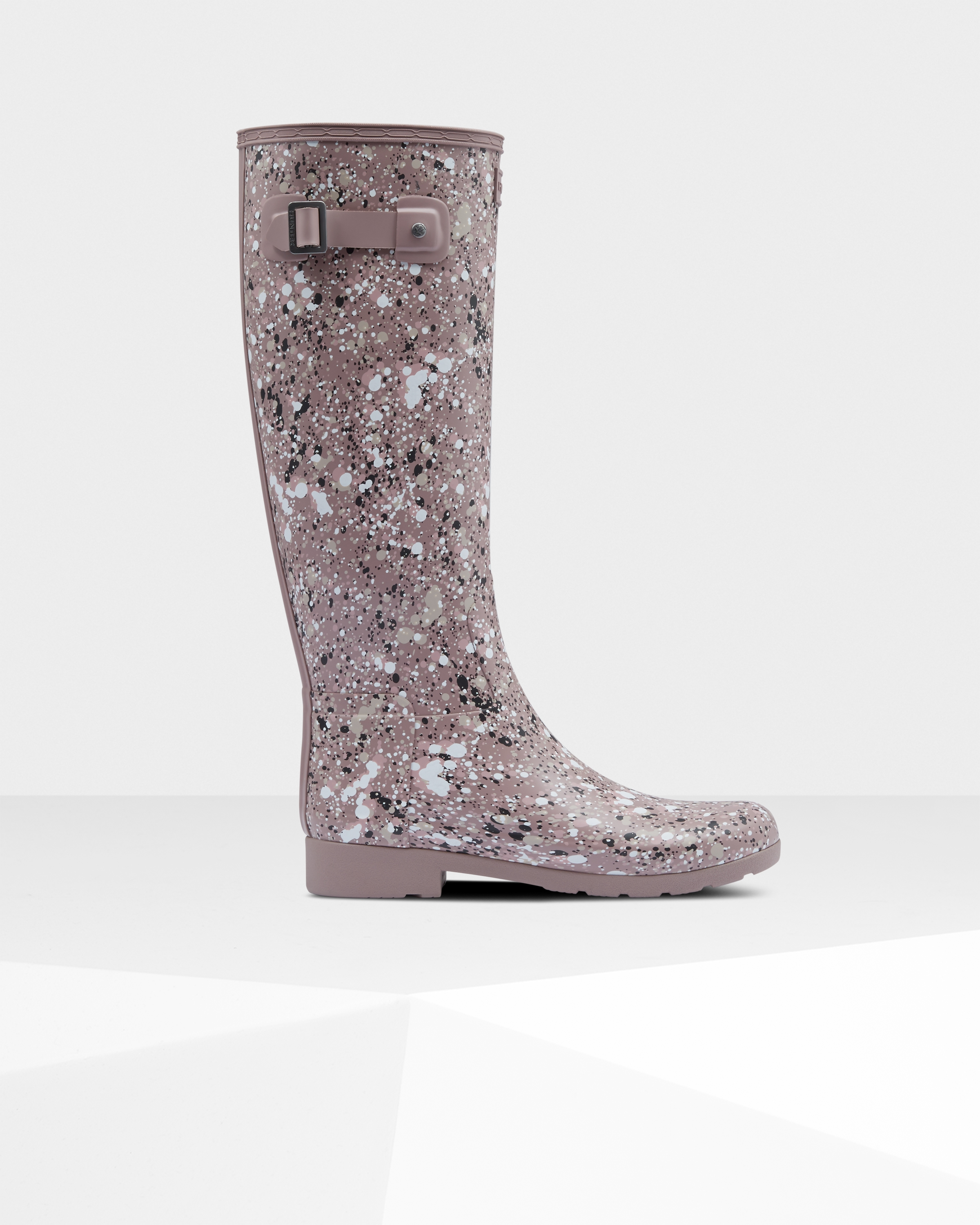 Women's Refined Particle Print Slim Fit Tall Rain Boots: Atlantis Purple | Official Hunter Boots Store